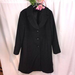 Jones New York Wool Blend Long Winter Coat Plus